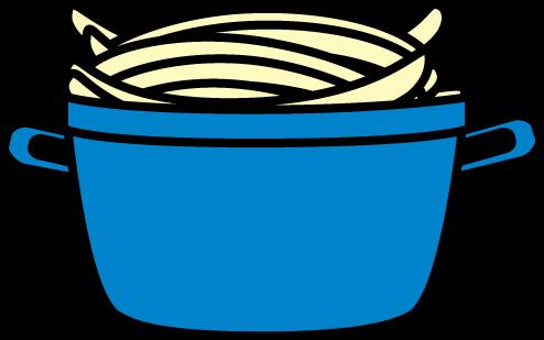 494x309 Pot Of Spaghetti Clip Art