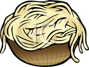 300x225 Bowl Of Uncooked Spaghetti Noodles Clipart Image