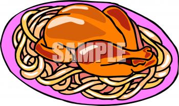 350x207 Spaghetti Clipart Chicken Dinner
