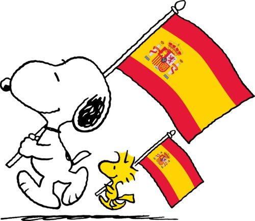 Spain Flag Cartoon