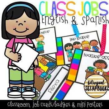 350x350 Class Jobs (English Amp Spanish) By Bilingual Scrapbook Tpt