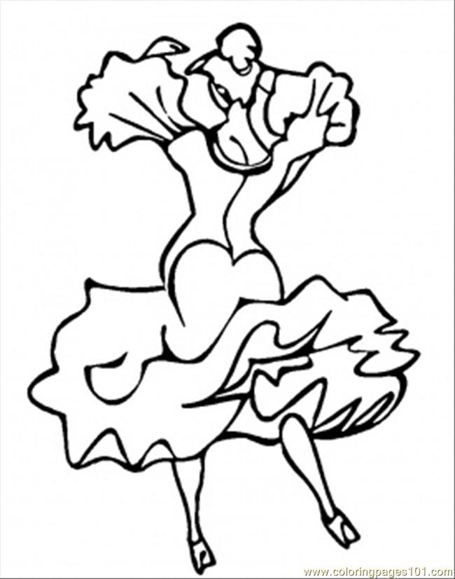 650x827 Dance Coloring Page
