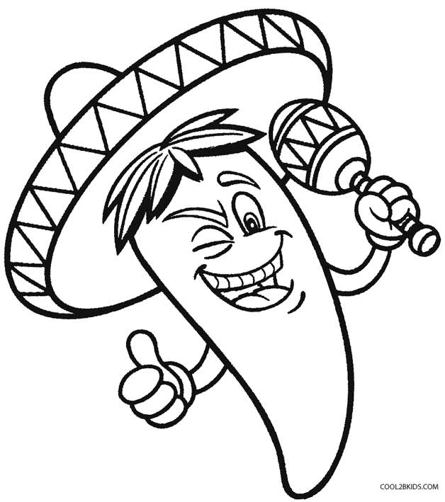 628x709 Printable Cinco De Mayo Coloring Pages For Kids Cool2bkids