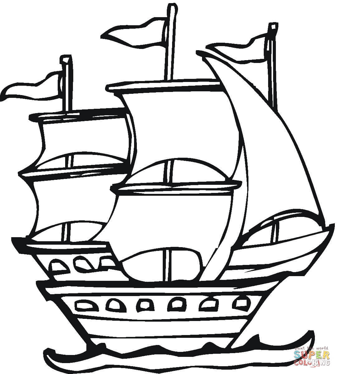 1081x1200 Spanish Expedition Coloring Page Free Printable Pages