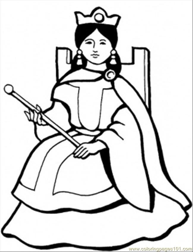 650x848 Spanish Queen Coloring Page