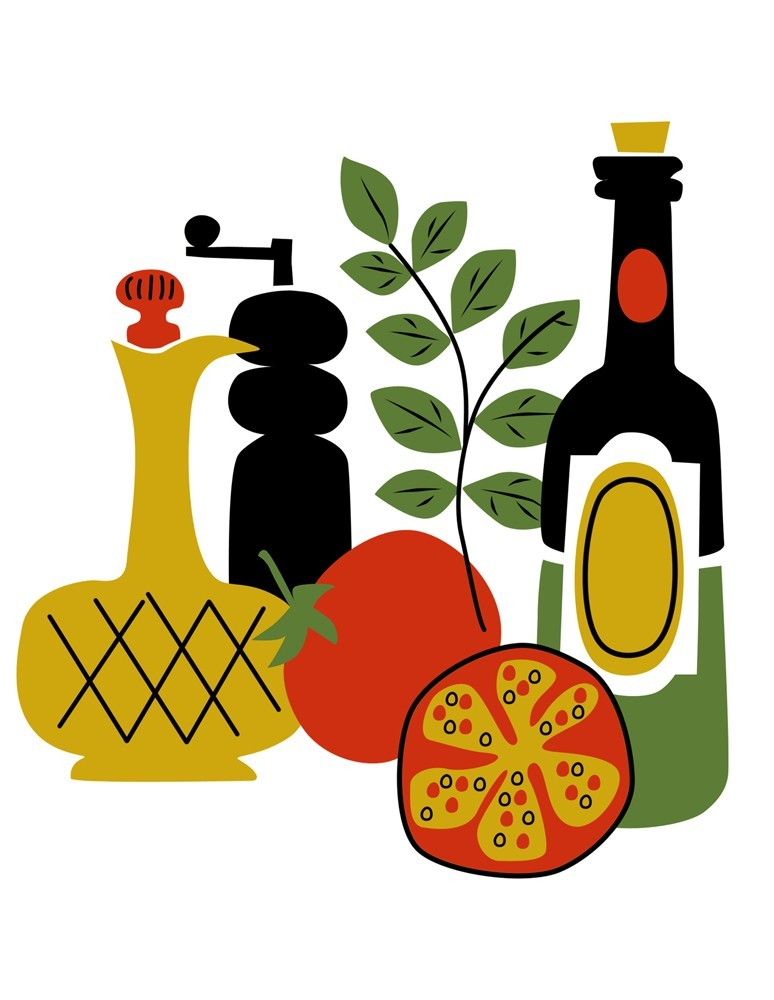 774x1000 Food And Wine Clipart