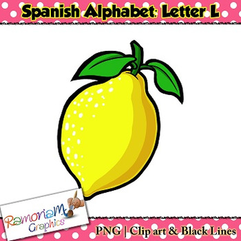 350x350 Spanish Alphabet Letter L Clip Art By Ramonam Graphics Tpt