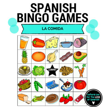 350x350 Spanish Food Bingo By Senora Lee