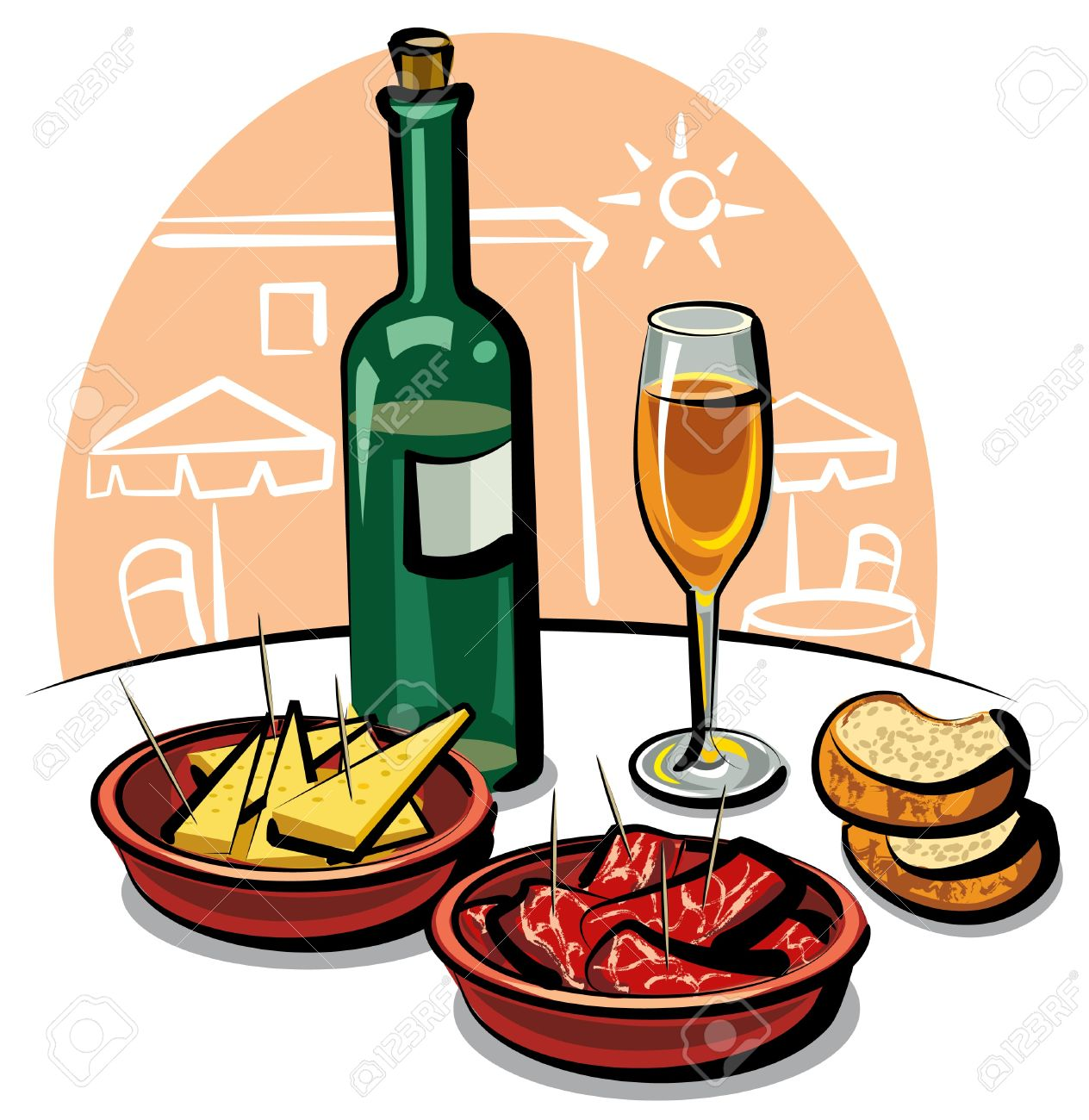 1264x1300 Spanish Food Clipart