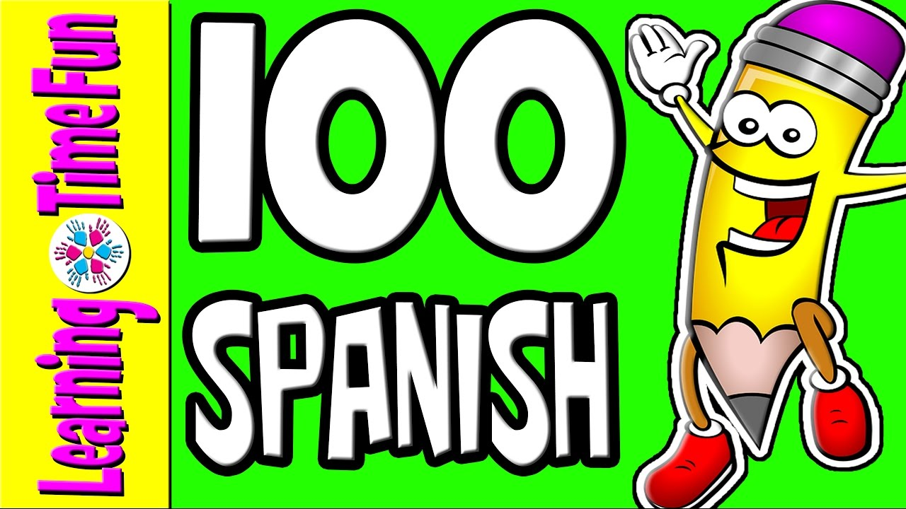 1280x720 Spanish Numbers 1 100 Learn Spanish Spanish For Kids Numbers
