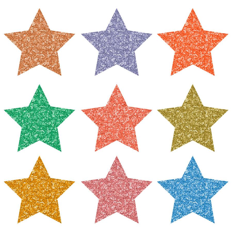 900x900 Buy 3 For 8 Usd, 15 Glitter Star Clip Art, Colorful Glitter