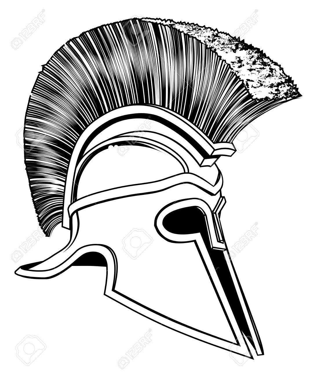 1094x1300 Graphic Of A Bronze Trojan Helmet, Spartan Helmet, Roman Helmet