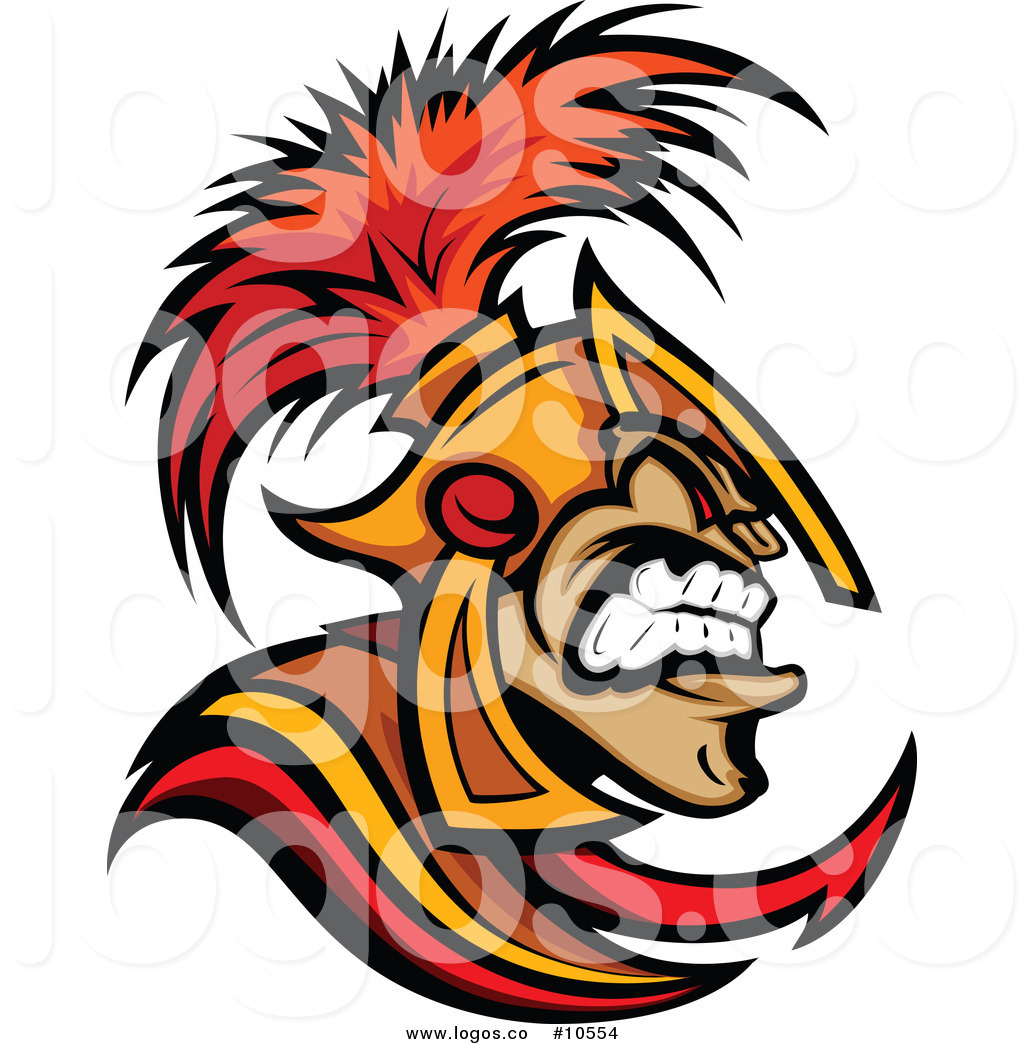 1024x1044 Royalty Free Clip Art Vector Angry Spartan Warrior In Profile Logo