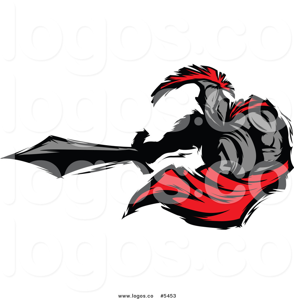 1024x1044 Royalty Free Vector Of A Logo Of A Spartan Roman Warrior Stabbing