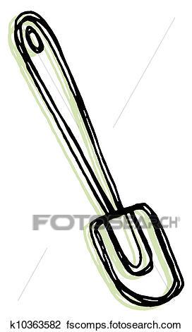 272x470 Clip Art Of A Rubber Spatula K10363582