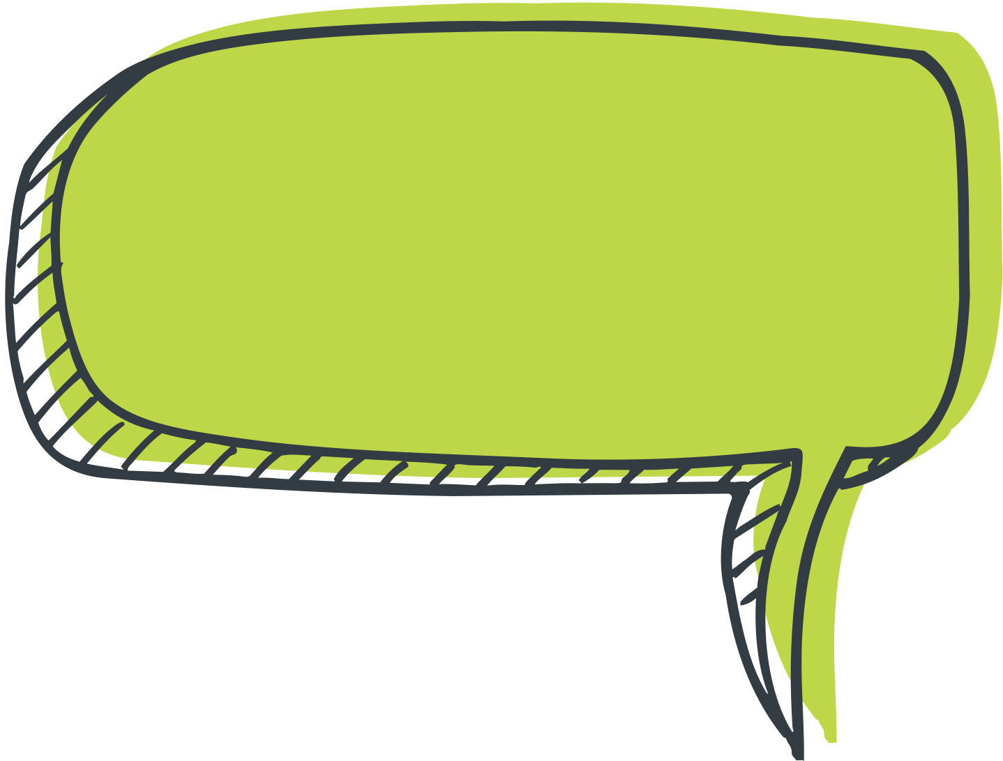 1438x1092 Speech Bubble Green transparent PNG