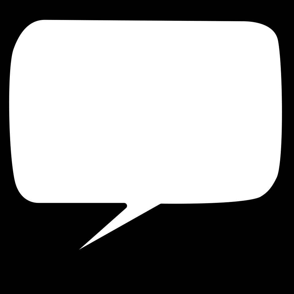 958x958 Blank Speech Bubble Clipart