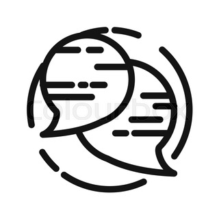 320x320 Vector icon of talk or chat icon or speech bubble as puzzle. This