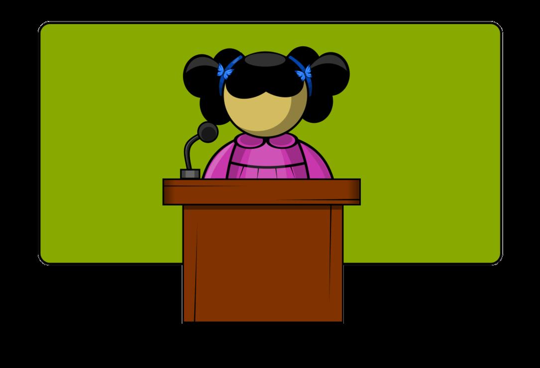 1085x740 Student Speaker Clipart
