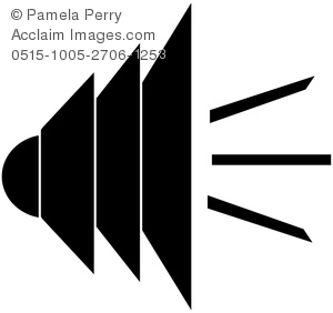 300x282 Clip Art Image Of A Loud Speaker Logo Element
