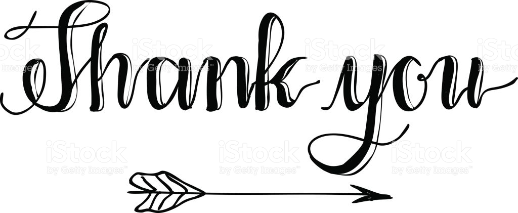 Thank you calligraphy. Special thanks clipart free
