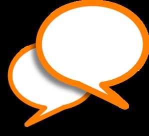 298x273 Orange Speech Bubbles Clip Art