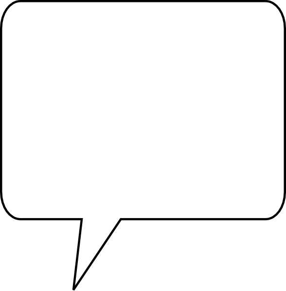 588x599 Squares Clipart Speech Bubble
