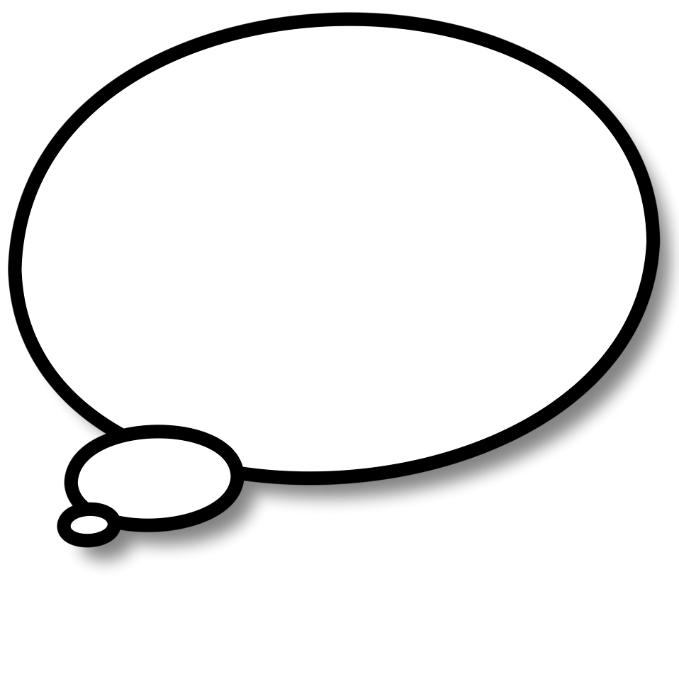 958x958 Thought Bubble Thought And Speech Bubbles Clip Art Image