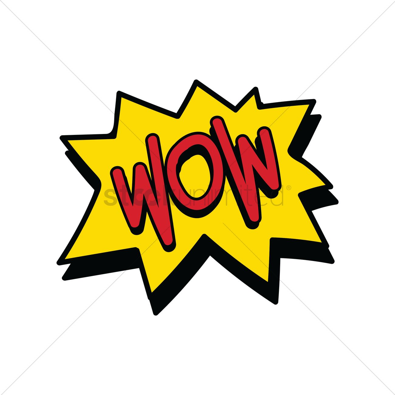 1300x1300 Comic Speech Bubble With The Word Wow Vector Image