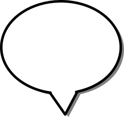 425x399 Free Printable Blank Speech Bubbles Clipart 4
