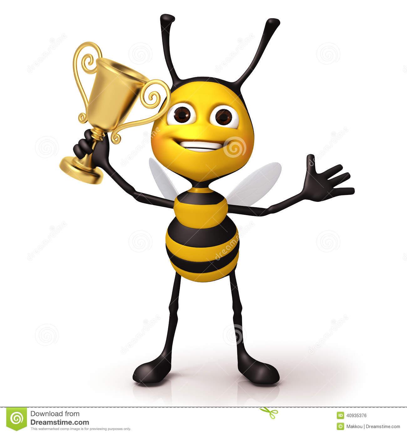 1300x1390 Bee Clipart Trophy