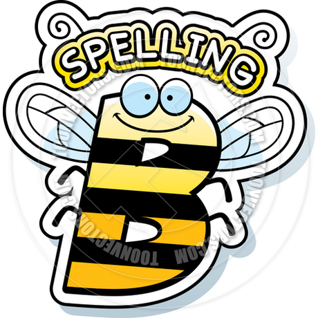 460x460 Cartoon Spelling Bee Text By Cory Thoman Toon Vectors Eps