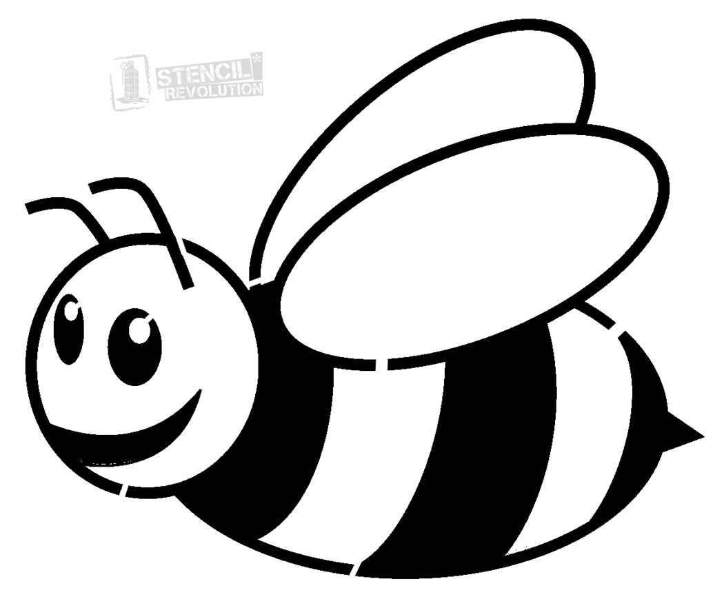 1050x882 Bee Clipart Black And White