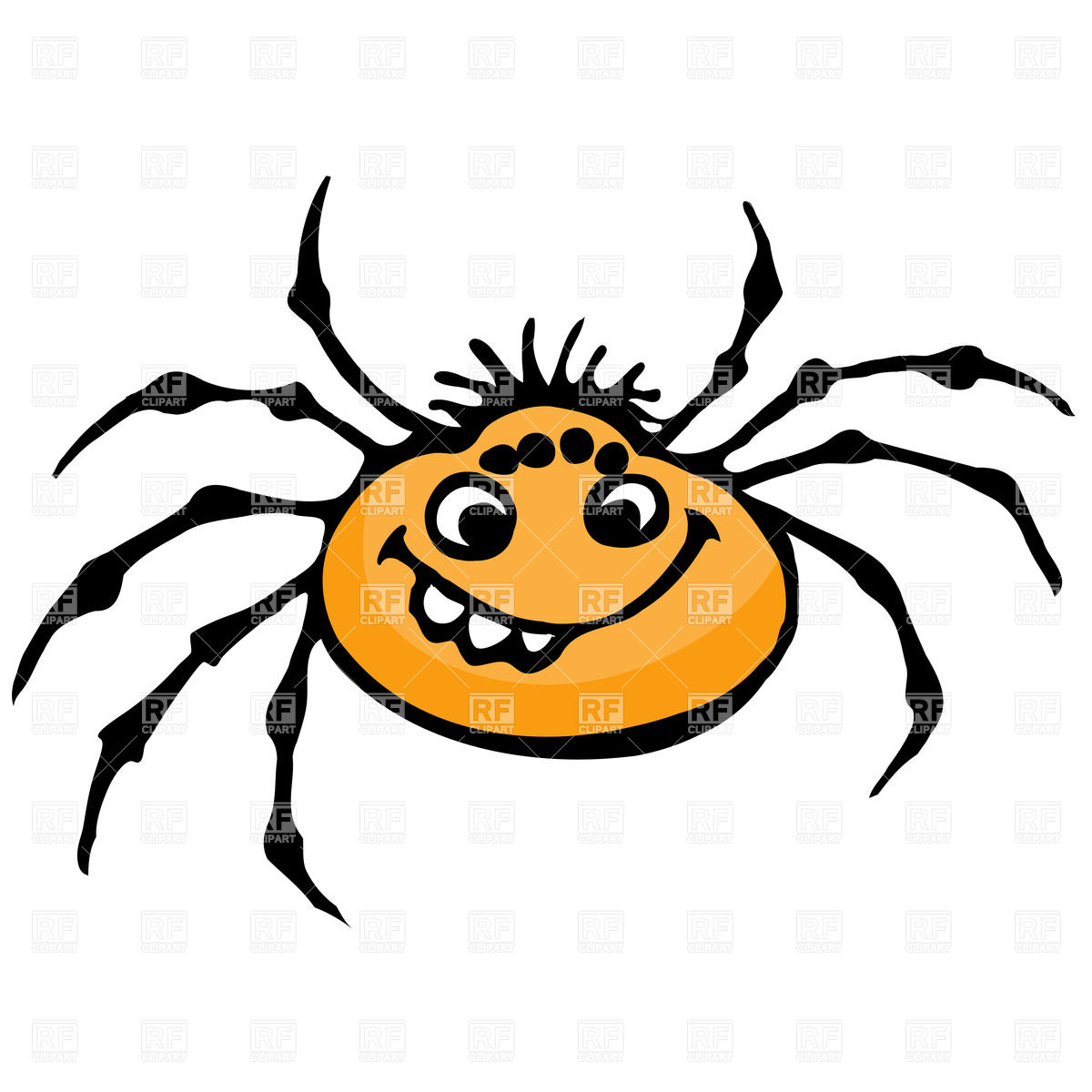 1200x1200 Cute Cartoon Spider Royalty Free Vector Clip Art Image