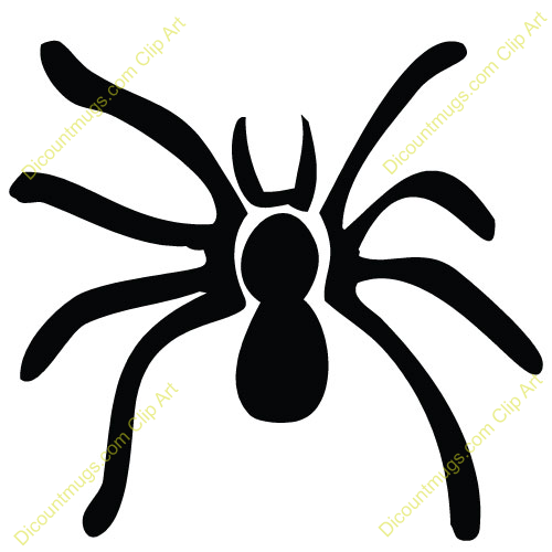 500x500 Cute Spider Clip Art