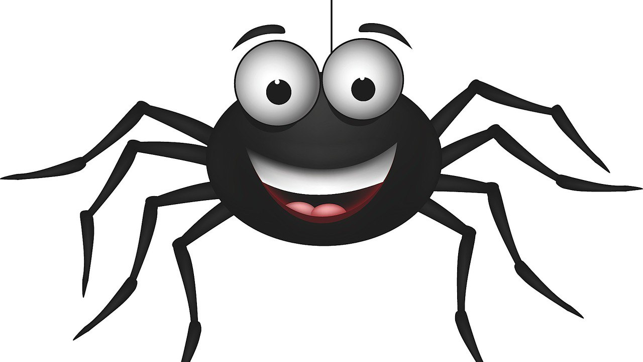 1280x720 Spider Clipart Silly