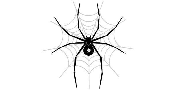 598x312 Spider web vector art 123Freevectors