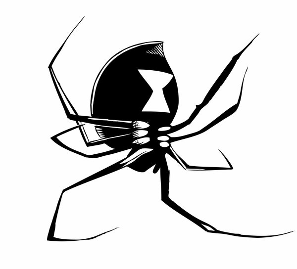600x544 Drawn Spider Spider Black And White