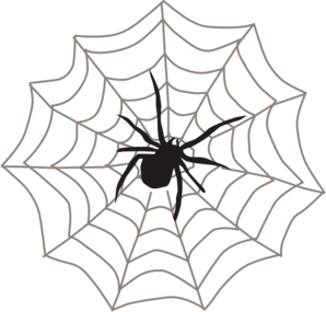 298x285 Spider With Web Clip Art