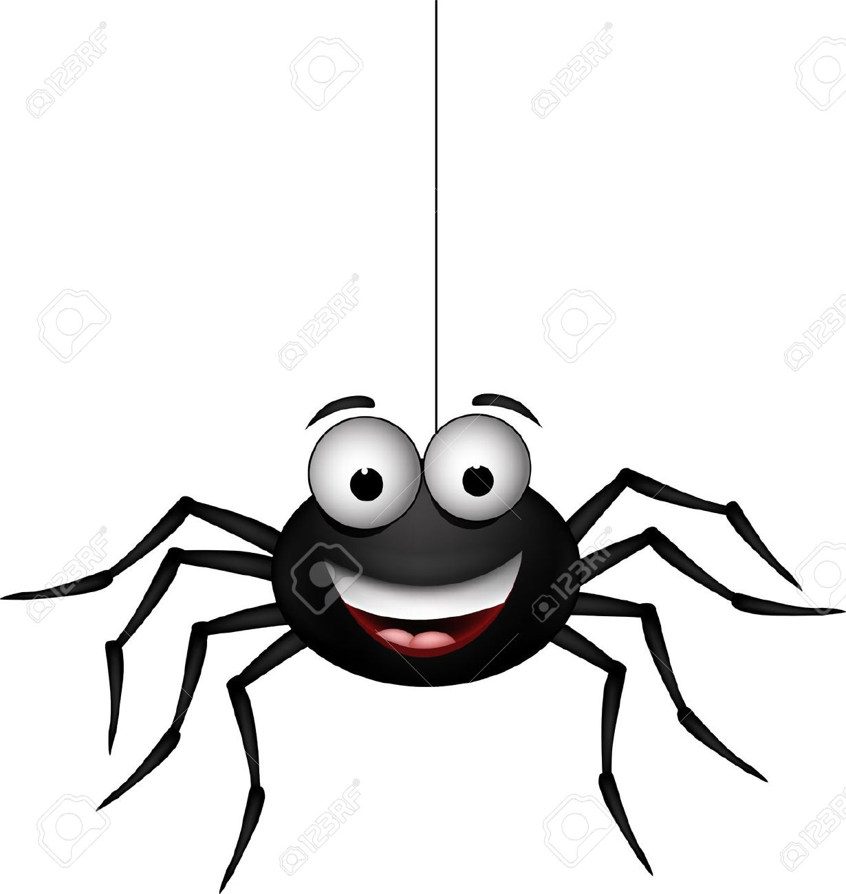 1230x1300 cute danglins spider clipart