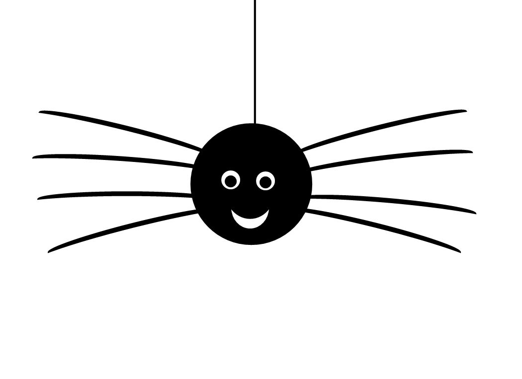 1050x763 Halloween Hanging Spider Clipart