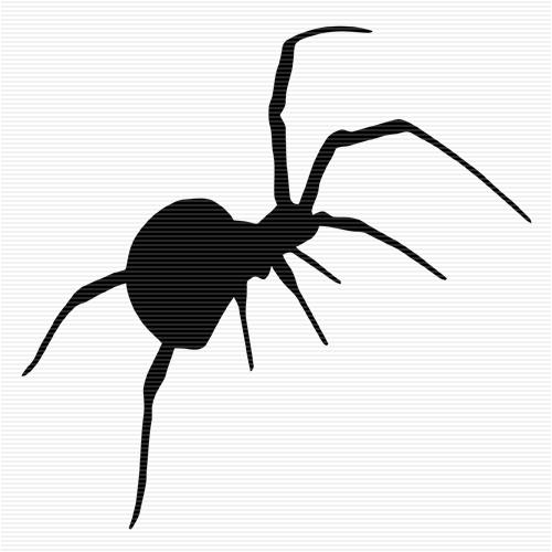 500x500 Hanging Spider Clip Art Image