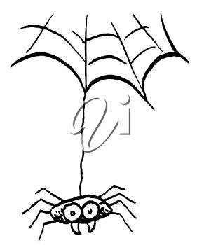281x350 Picture Of A Spider Hanging From A Web In A Vector Clip Art