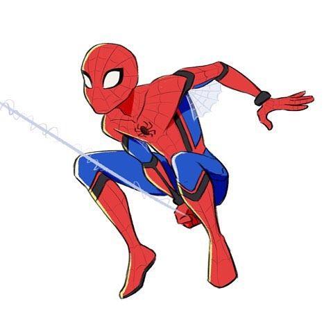 480x480 Spider Man Clipart Red Spider