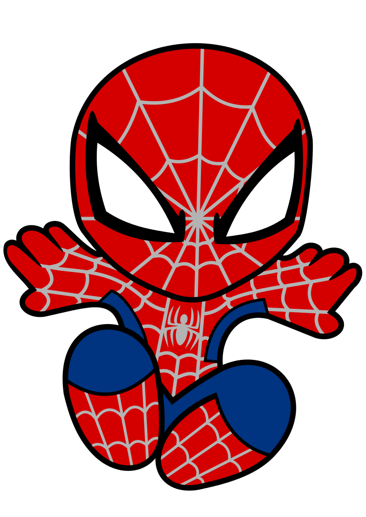 745x1053 Spider Man clipart spiderman face