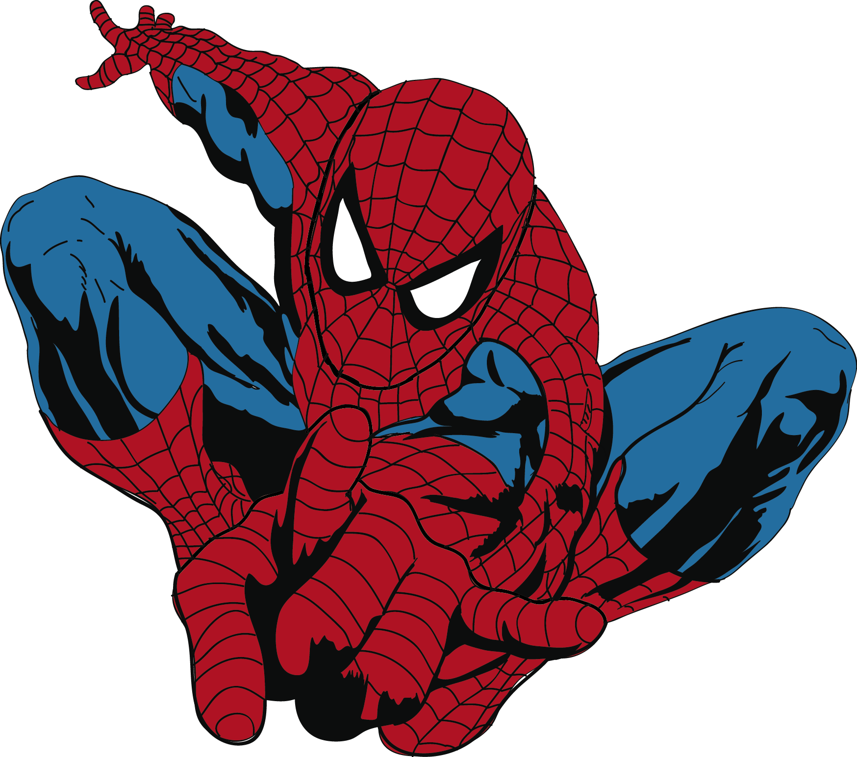 1748x1545 Spiderman clipart template