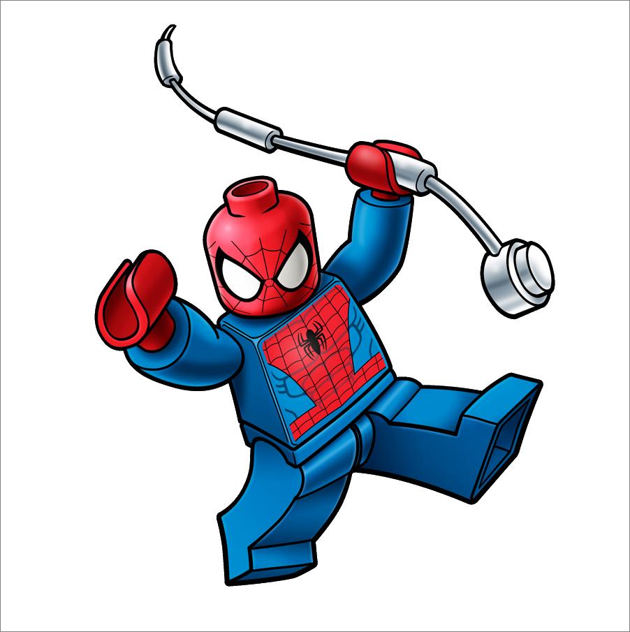 902x905 Lego Spider Man Clipart