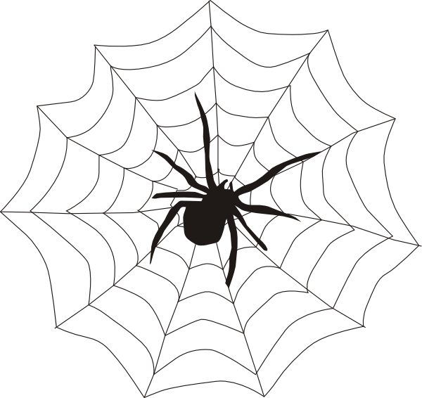 600x566 Small Clipart Spider Web
