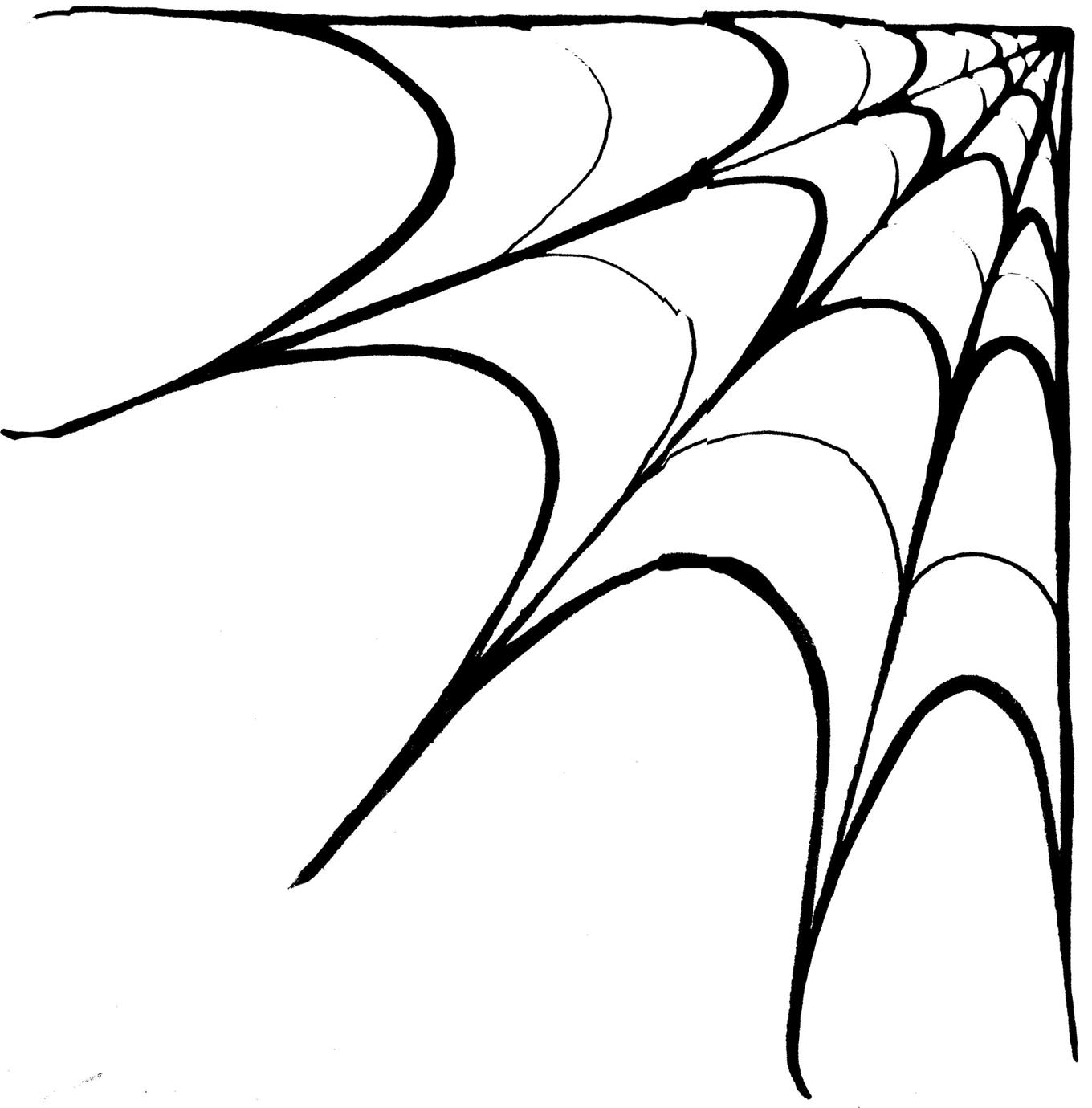 1360x1380 Spider Web Border Clip Art Cliparts