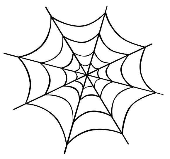 580x540 Spider clipart web drawing